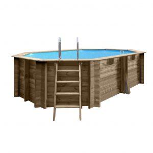 piscina ovale in legno