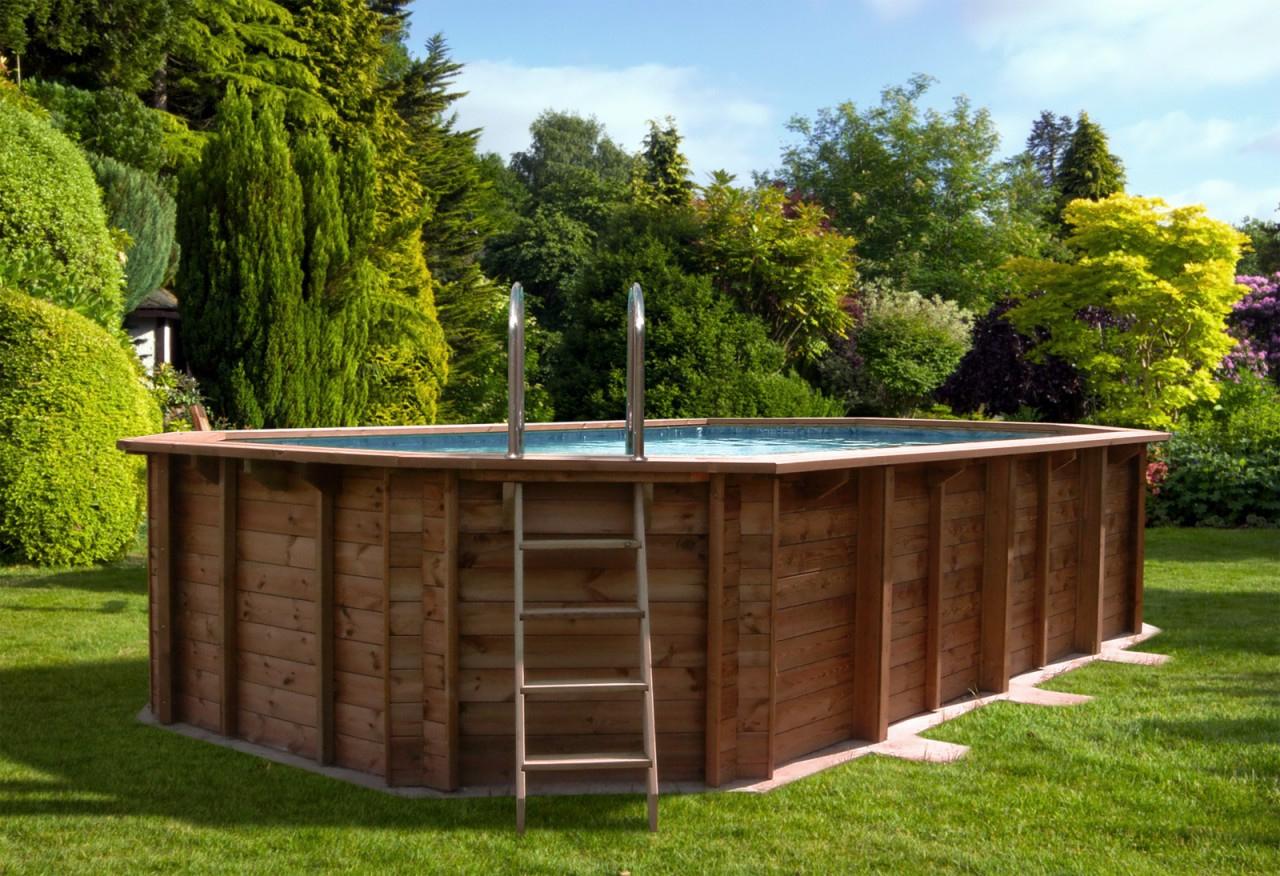 piscina in legno onda