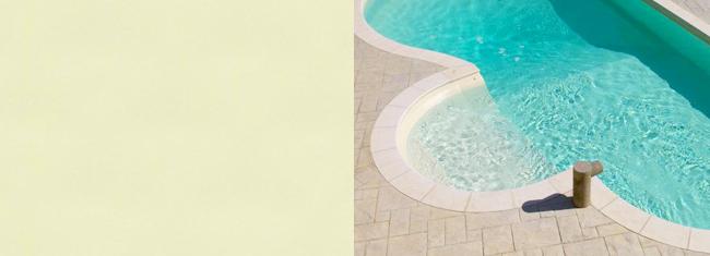 liner piscina bianco