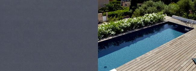 liner piscina grigio
