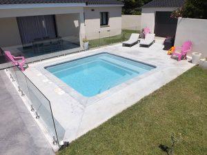 mini piscina quadrata